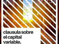 clausula sobre el capital variable.